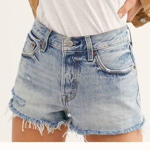 Levi's 501 free people button fly cutoff shorts